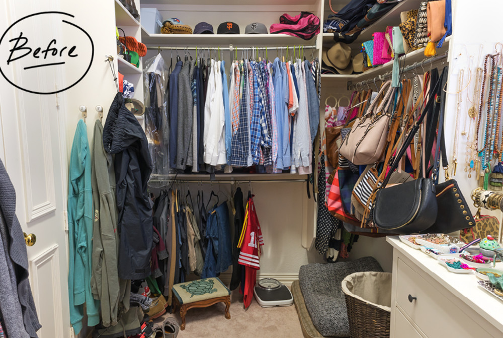 Faced With A Lack Of Drawers And Shelves, Cassie Resorted To Hanging Purses  From Shower Hooks. Unfortunately, The Hangers And Hooks Were Causing Damage  To ...