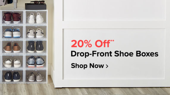 20% Off** Drop-Front Shoe Boxes