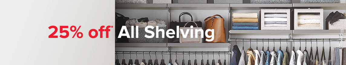 25% off* All Shelving