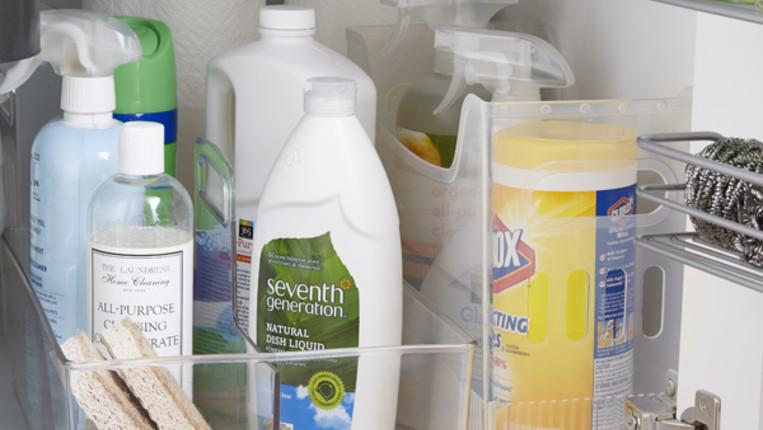 How To Organize Under A Kitchen Sink