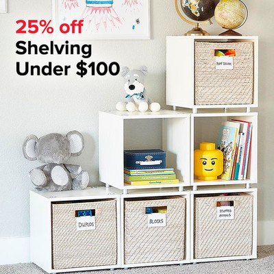 25% off Shelving Under $100