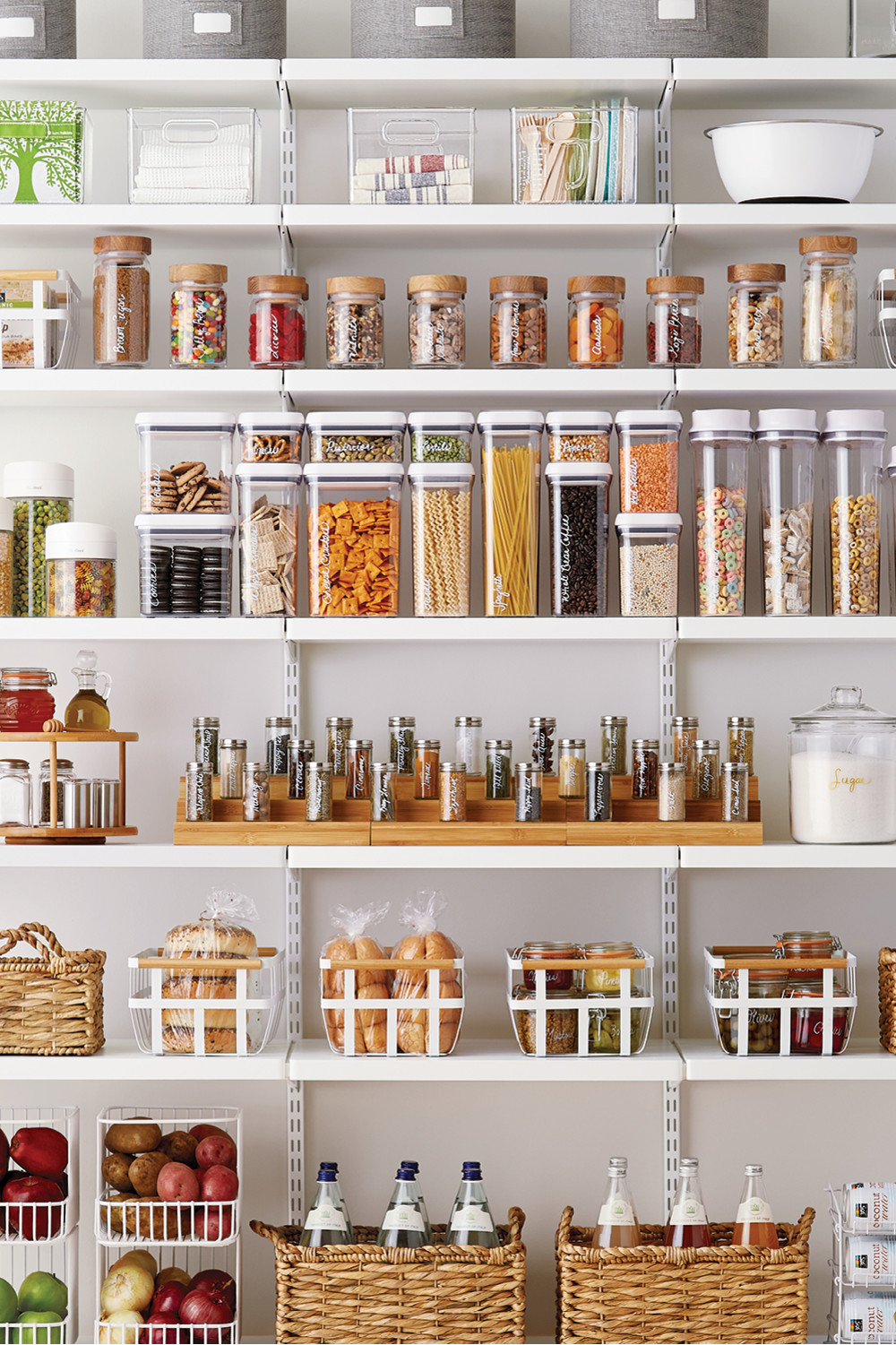 Kitchen refresh pantry container stories for Organization ideas for kitchen pantry