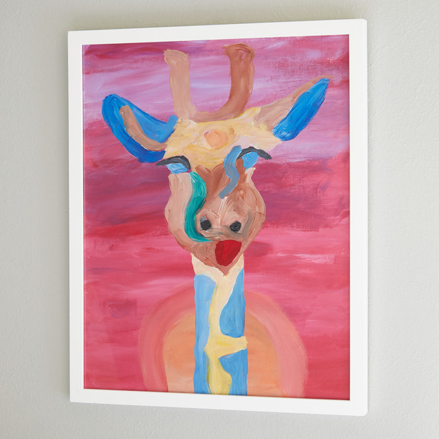 46286476c ... the room with artwork of different styles, but we think Max's favorite  is the precious, colorful giraffe painting by his
