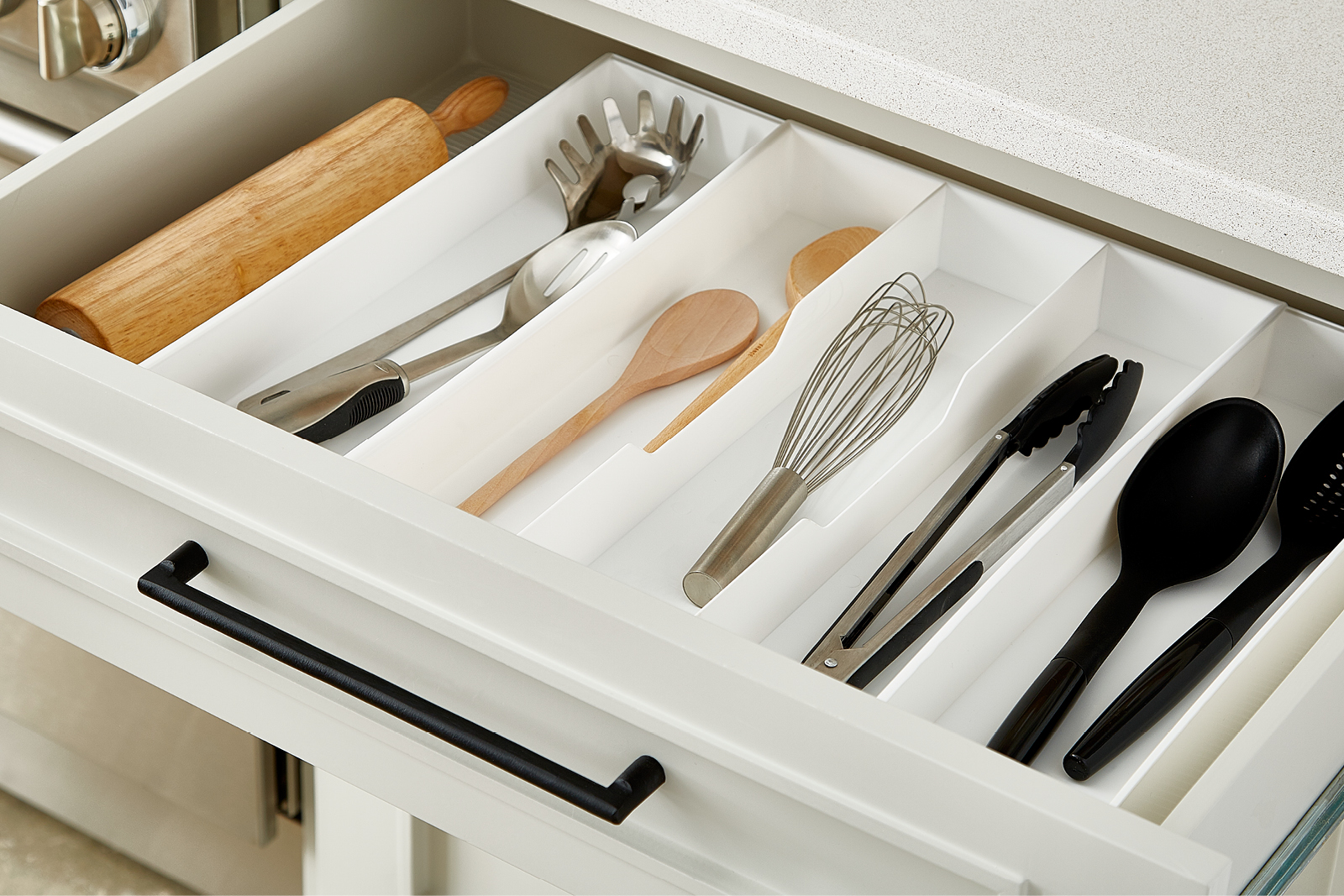 Expand a drawer utensil trays the container store ever find yourself doing the kitchen drawer shuffle workwithnaturefo