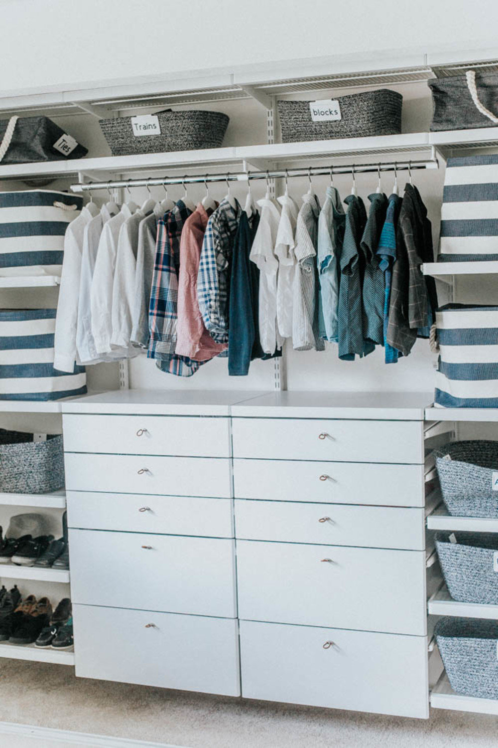 Making One Closet Work For Three Container Stories