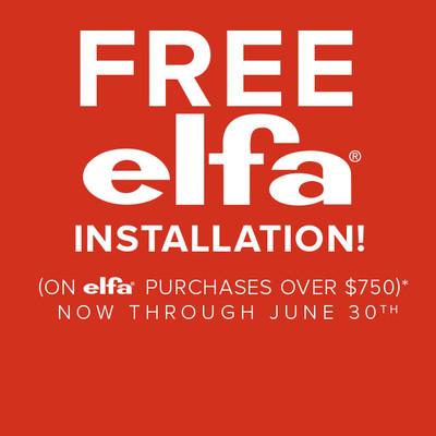 Free elfa Installation*