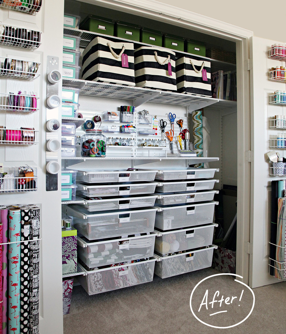 Craft closet storage - Featured Products White Elfa Closet White Elfa Door Wall Rack Solution Charcoal Ivory Rugby Stripe Storage Bin With Rope Handles Glass Cracker