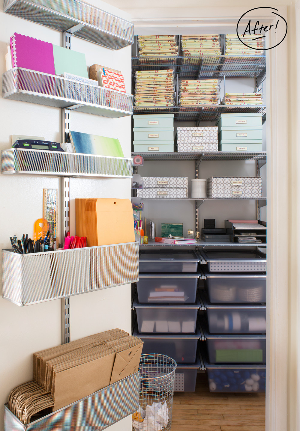 office closet shelving. Featured Products: Platinum Elfa Door \u0026 Wall Rack System // Bigso Mint Stockholm Office Storage Boxes Synchronicity Closet Shelving