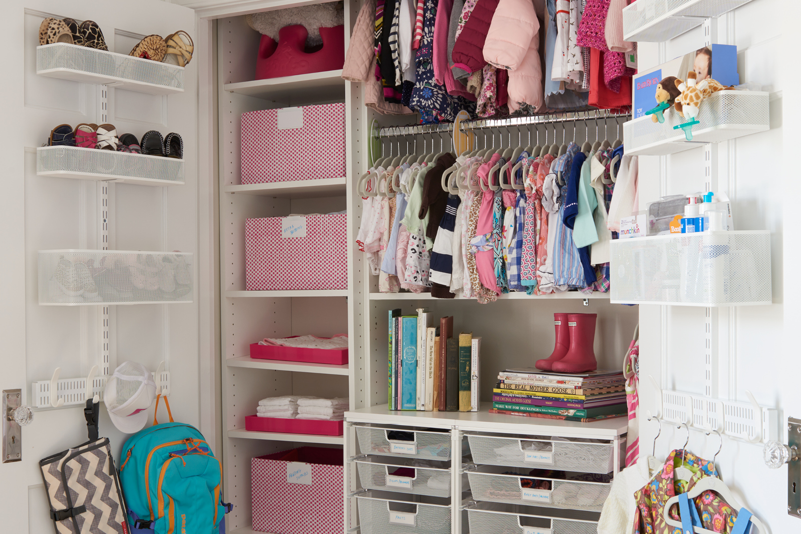 s back buckets baby organizer ideas closet door of tips easy organizing the