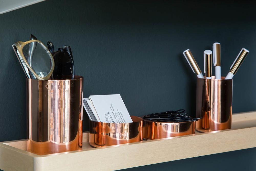 Featured S Birch Elfa Decor Accessory Shelf Copper Magnetic Desk Set White Gold Poppin Pens