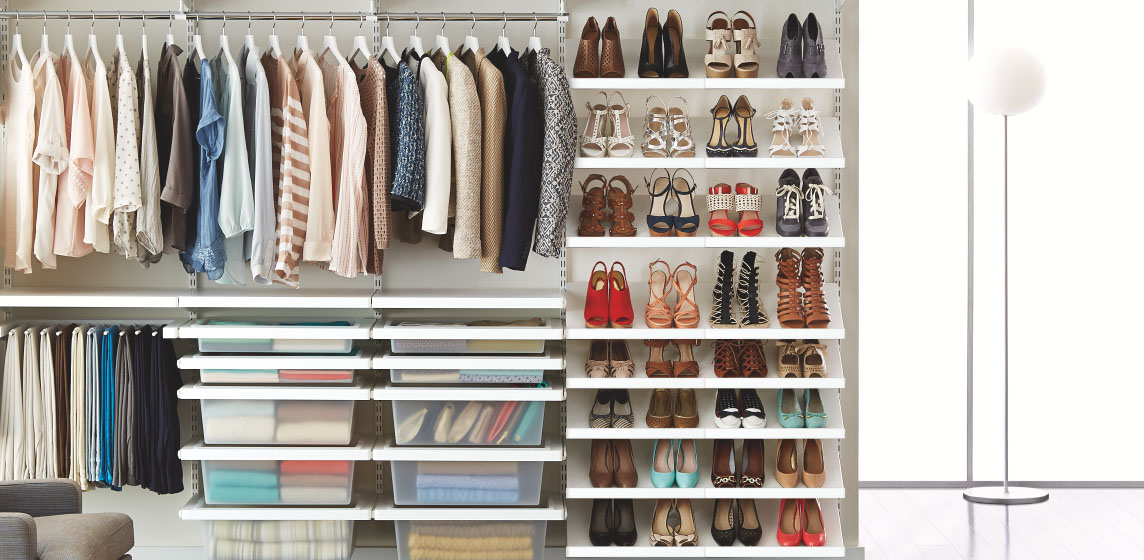 Elfa custom closet shelving organizer systems custom for Decor systems