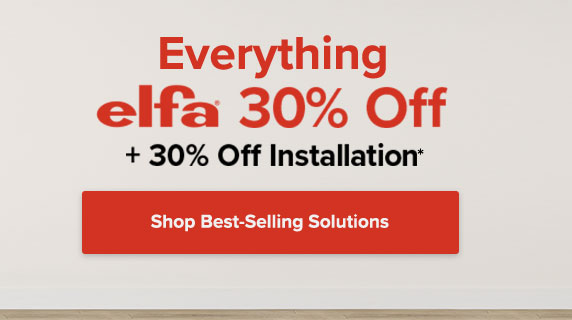 30% Off Everything Elfa