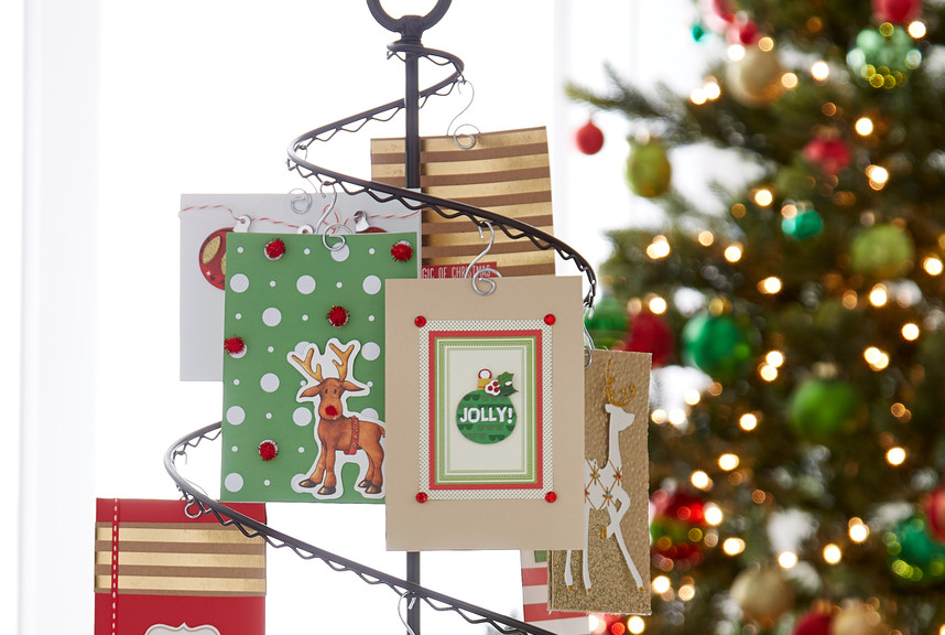 Christmas Card Display.Fresh Ideas For Holiday Card Displays Container Stories