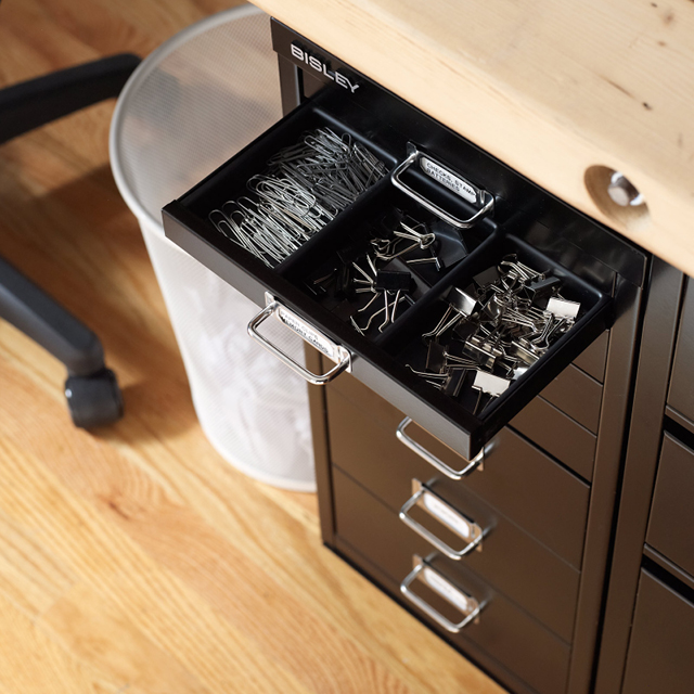 There Are A Variety Of Inserts For The Bisley Drawers That Can Be Customized Depending On What You Re Storing Here Ed Categorizes Those Office Supplies