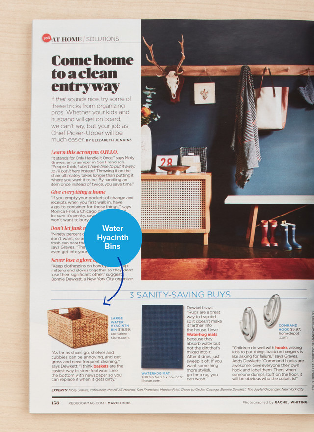 Redbook Taps our Water Hyacinth as a Top Pick for a Clean Entryway