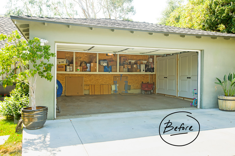 a family garage gets an elfa makeover container stories