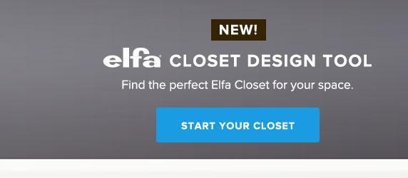 New Elfa Closet Design Tool