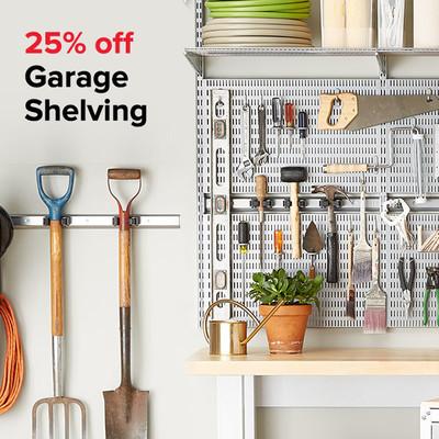 25% off Garage Shelving
