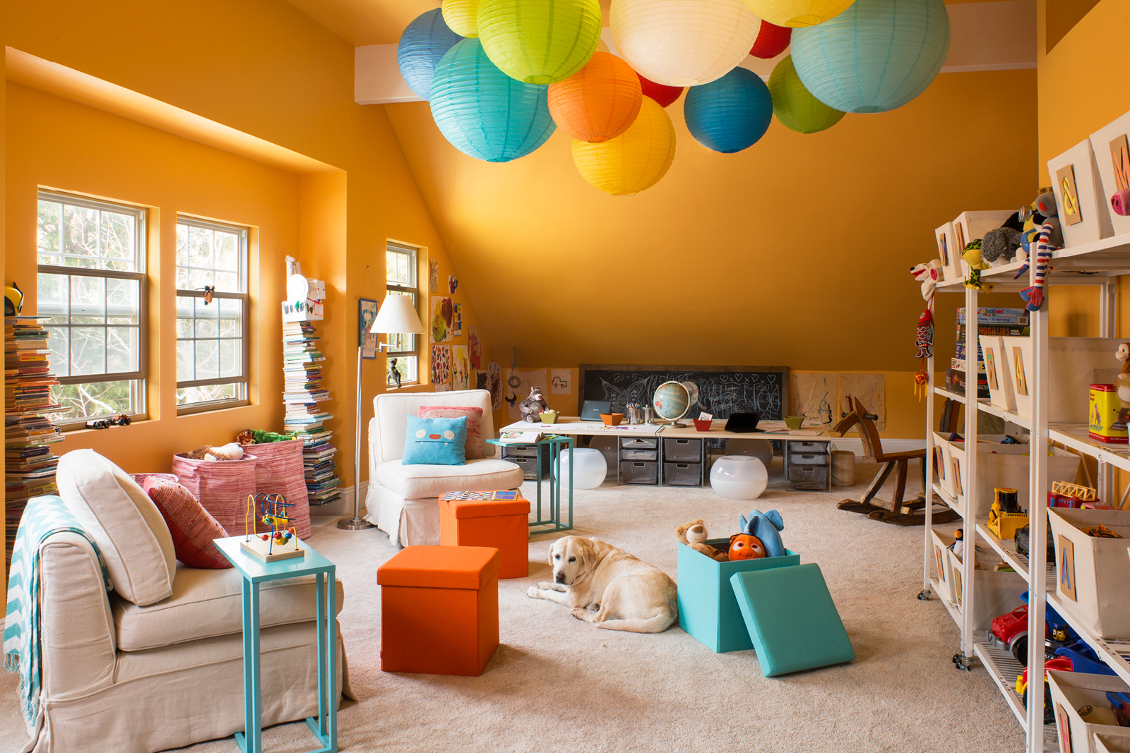 7 Inspiring Kid Room Color Options For Your Little Ones: Creative Toy Storage For Two California