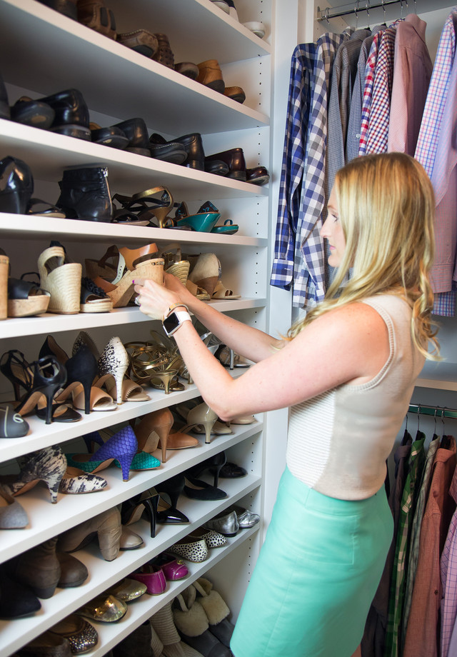 Piper Loved Claudiau0027s Tip For The Wall Of Shoes, Which Was To Switch Each  Shoe In The Pair In Opposite Directions So You Create Even More Space To  Store A ...