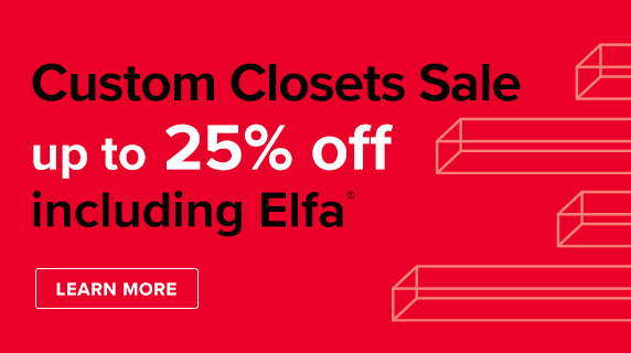 Custom Closets Sale