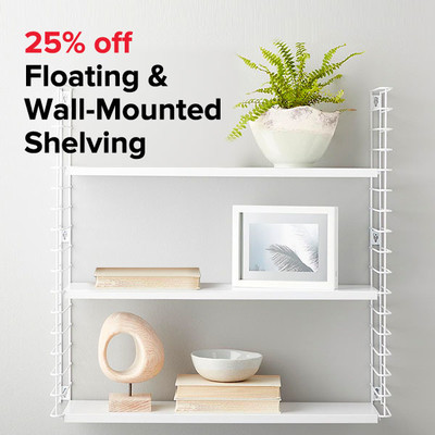 25% off Floating & Wall-Mounted Shelving