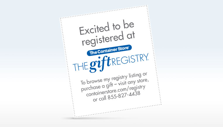 Registry Announcement Cards (PDF)