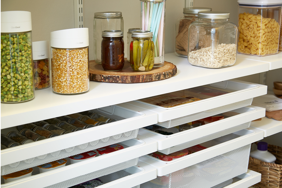 Design Elfa Pantry this pantry gets perfected with an elfa transformation container stories