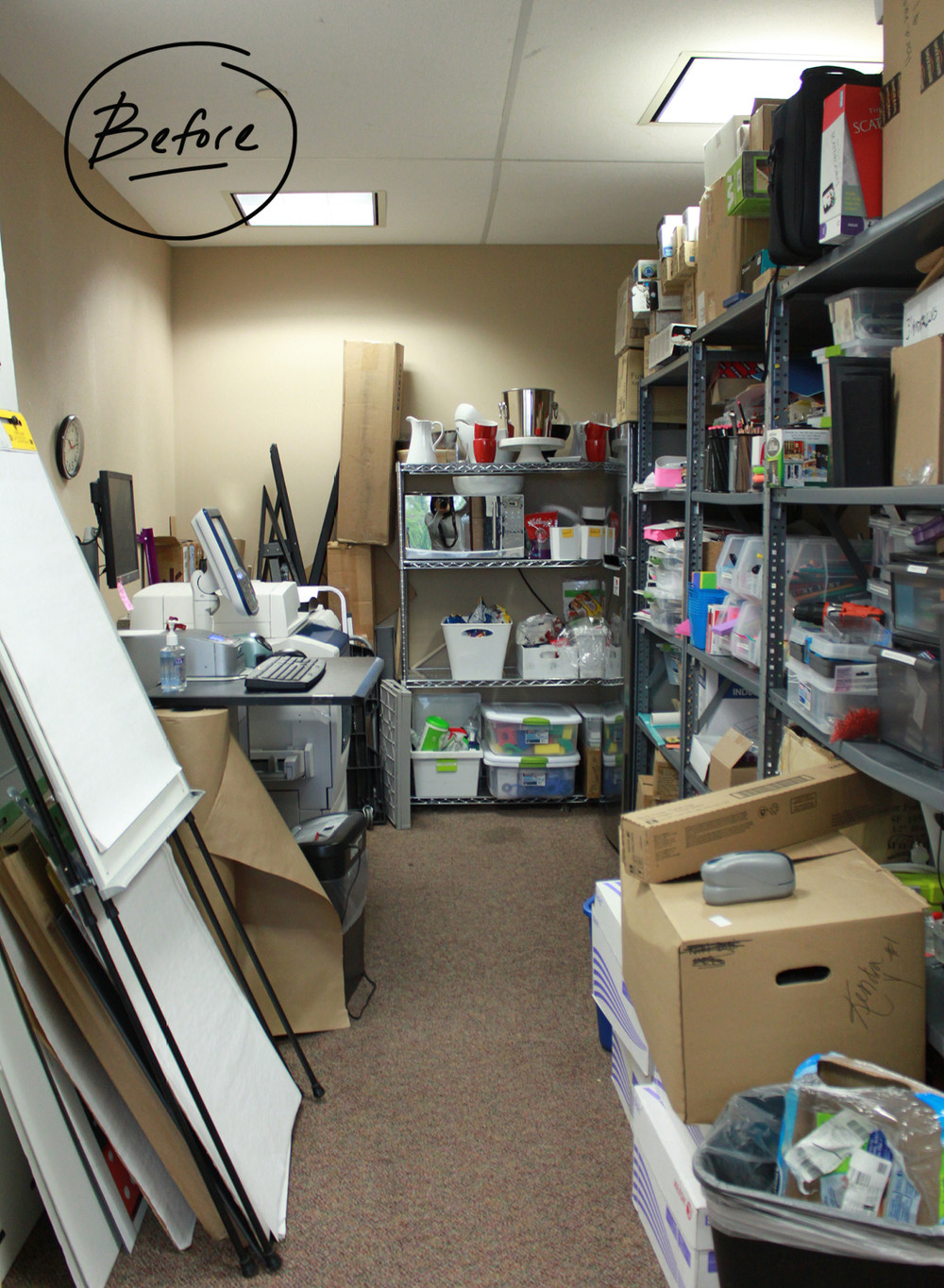 Before, The Teamu0027s Space Was Cluttered From Floor To Ceiling With No System  Of Order To Help The Team Locate Or Work With Anything In The Space.