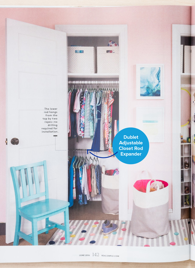 ... Adjustable Closet Rod Expander By Umbra, Created A Kid Friendly Pantry  With Our Solid Shelf Dividers And Completed A Streamlined Linen Closet With  Our ...