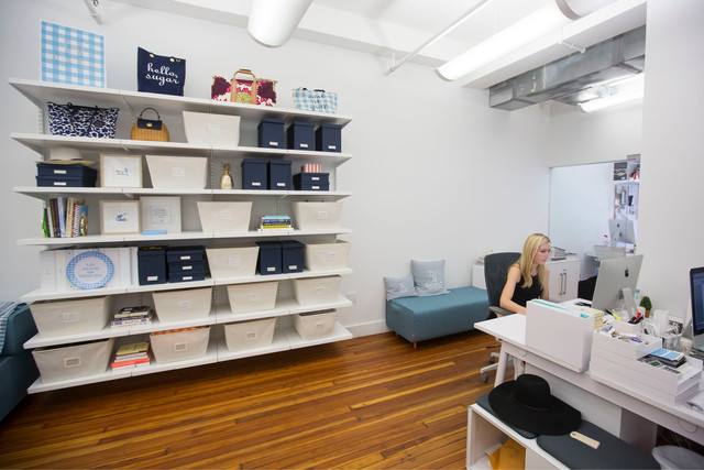 Attirant Featured Products: Elfa // Bigso Navy Stockholm Desktop File // Bigso Navy  Stockholm Office Storage Boxes // Open Canvas Bins // White Poppin Hanging  File ...