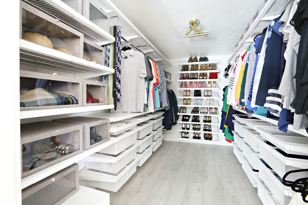 Master Closet Makeover For Savannah Of Classy Clutter